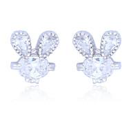 High Quality Fashion Female Rabbits Zircon Earrings