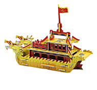 DIY Dragon Boat Shaped 3D Puzzle