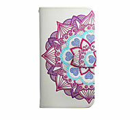Mandala Flower Graphic Photo Frame Slot PU Leather TPU Full Body Bumper Cases with Stand for Wiko LENNY
