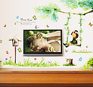 Free Swinging Girl PVC Wall Stickers Wall Art Decals