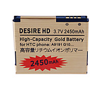 2450mAh Cell Phone Battery for HTC Desire HD/A9191/G10/HTC Inspire 4G