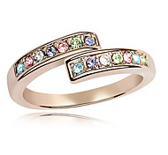 Ring Adjustable Casual Jewelry Alloy / Rhinestone Women Statement Rings 1pc,One Size White / Pink