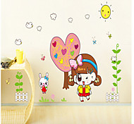 Environmental Removable Cute Girl PVC Tags & Sticker