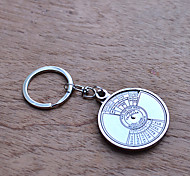 50 Annual Calendar Exquisite Stainless Steel Keychain / Key Ring