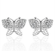Women's Fashionable Bowknot 925 Silver Plated Earrings