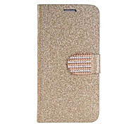 Bling Diamond PU Leather Case for Samsung Galaxy S6 edge(Assorted Colors)