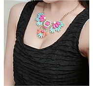 Short Exaggerated Gem Sweater Necklaces 1pc