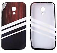 White Streak Glitter Pattern TPU Soft Case for Motorola G2