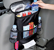 Car Back Seat Hanging Organizer Multifunctional Thermal Cooling Compartment Organizer Bag Tissue Box