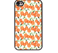 Orange Design Aluminum Hard Case for iPhone 4/4S