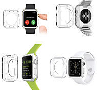 TPU Transparent Color Protective Case Cover for Apple iWatch (42 MM)
