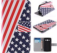 el diseño de la bandera de la PU cuero caso de cuerpo completo americano con el soporte y la ranura para tarjeta para samsung galaxy
