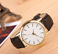Masculino Mulheres Relógio Esportivo Relógio Elegante Relógio de Moda Relógio de Pulso Mostrador Grande Quartzo Couro Legitimo Banda