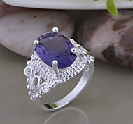 Silver Plated Crystal Ring Statement Rings Wedding/Party/Daily/Casual/Sports 1pc