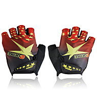 Cycling Bike Outdoor Sports Bicycle Anti-Slip Breathable Half-Finger Star Gloves Size(M/L/XL)