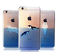 Ocean Animals Ultra-thin TPU Soft Back Case Cover for iPhone 6S Plus/6 Plus(Assorted Colors)
