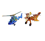 3D Hubschrauber und Jagdflugzeug Puzzle (2 Flugzeuge)