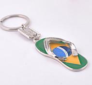 Unisex alloy ornament leisure fashionable flip-flops key chains