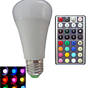 1 pcs SchöneColors®E27 10W 3X High Power LED Dimmable/32Keys Remote-Controlled RGB LED Globe Bulbs AC 85-265 V