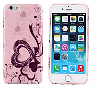 Pink Heart Pattern TPU Soft Cover for iPhone 6