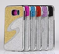samsung galaxy s6 compatibel hoogwaardig glanzend aluminium luxe metalen achterkant geval van de dekking met kleur mix (verschillende