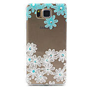 Daisy Flower Pattern TPU Diamond Relief Back Cover Case for Samsung Galaxy Alpha G850 G8508 G850F