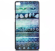 Back Cover Shockproof Geometric Pattern PC Hard Case Cover For Huawei Huawei P8 / Huawei Y550