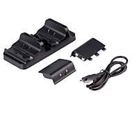 neue Dual-Ladestation Controller Ladegerät&2 Akkus für xbox ein
