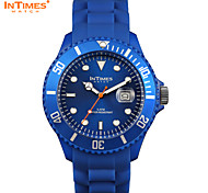 InTimes IT-057 Man Analog watch 44mm plastic case silicone bracelet Japan Movt.