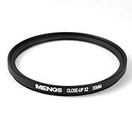 mengs® 55mm крупным планом x2 фильтр с алюминиевой рамкой для DSLR камеры