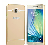 Special Design Solid Color Metal Back Cover and Bumper for Samsung Galaxy A7(Assorted Colors)