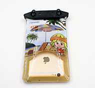Universal 6 Inch Cartoon PVC Waterproof Phone Case 10 Meters Underwater Phone Bag Pouch Dry No.011 (All Models)