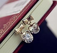 Women's Fashion Zirconia And Metallic Earring #1-1