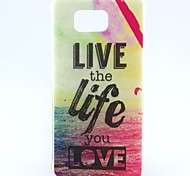 The Sea Love Pattern TPU Soft Cover for Galaxy Alpha G850