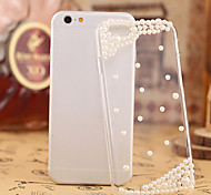 Fashion Diagonal Diagonal Pearl Case Bowknot Pattern Rhinestone Case for iPhone6