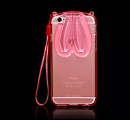 Lovely Transparent Rabbit Ears Protective Case for iPhone 6S Plus/6 Plus(Assorted Colors)