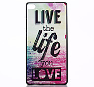 Life Pattern PC Hard Case and Phone Holder for Huawei P8