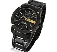 Men's casual steel strip watches