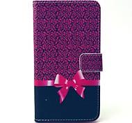 motif léopard arc étui en cuir PU avec fente pour carte de titulaire de l'argent pour Samsung Galaxy e7