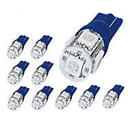 8 x 194 168 2825 T10 5-SMD Blue LED Car Lights Bulbby britelites