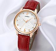 borboleta feminino SINOBI subiu relógio padrão de couro banda de pulso de quartzo analógico (cores sortidas)