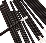 50pcs Black Bar Super Soft Wool Fibers Lip Brush