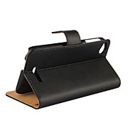 Plain Leather Wallet Card PU Case with Stand for HTC Desire 320