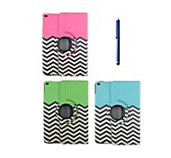 9.7 Inch 360 Degree Rotation Wave Pattern with Stand Case and Pen for iPad Air 2/iPad 6