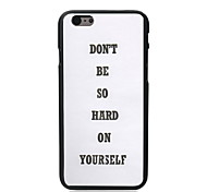 Don't Be So Hard Design PC Hard Case for iPhone 6 Plus