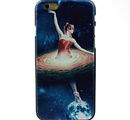 Dancing Girl Pattern Hard Case for iPhone 6
