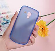 Para Funda Samsung Galaxy Ultrafina / Transparente Funda Cubierta Trasera Funda Un Color Policarbonato Samsung Trend Duos