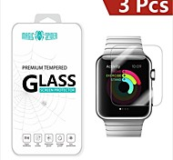 Magic Spider®0.2mm 2.5D Private Brand Damage Protection Tempered Glass Screen Protector for Apple Watch 42mm (3PCS)