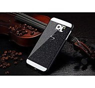 Fashion Shiny Bling Phone Case Hard Back Cover Case For Samsung Galaxy S6 Edge (Black)