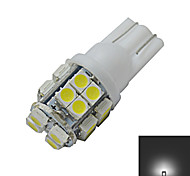 Luces Decorativas T10 1.5W 20 SMD 3528 85lm LM Blanco Fresco DC 12 V